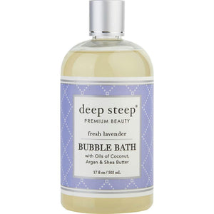 Deep Steep Fresh Lavender Bubble Bath 17 Oz By Deep Steep
