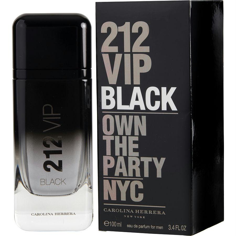 212 Vip Black By Carolina Herrera Eau De Parfum Spray 3.4 Oz