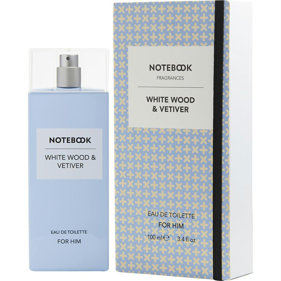 Notebook White Wood & Vetiver  By Selectiva Edt Spray 3.4 Oz