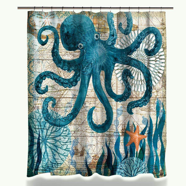 Relatively Sea Life Shower Curtain - My Turtle And I DH45