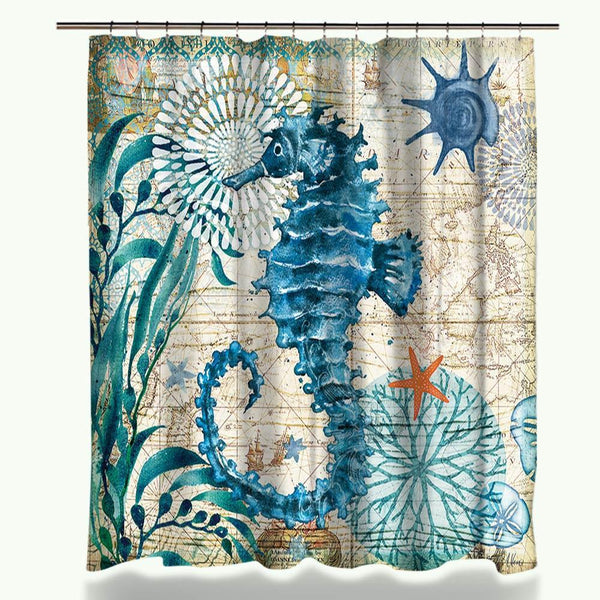 Excellent Sea Life Shower Curtain - My Turtle And I VR39