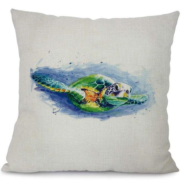 Perfect Sea Turtle Printed Cushion Covers - My Turtle And I DN39