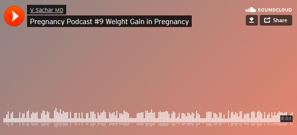 Pregnancy Podcast #9 Weight Gain in Pregnancy