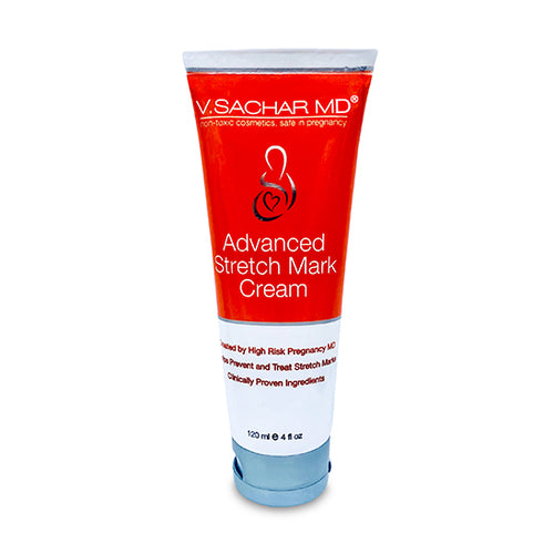 Advanced Stretch Mark Cream by V.SACHAR MD Safe in Pregnancy, non-toxic, Created by High Risk Pregnancy MD, Helps prevent and treat stretch marks  by V.SACHAR MD