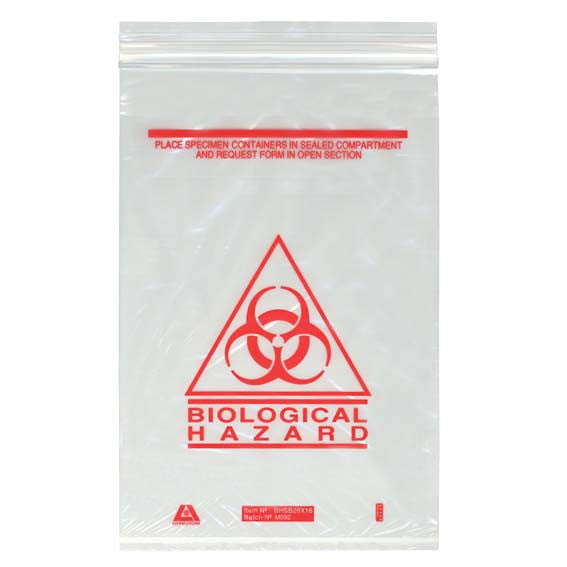 Bag - Biological Hazard Clear