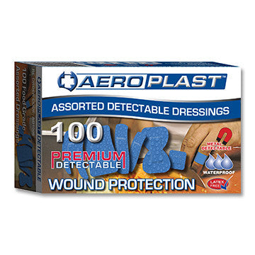Dressing Strips - (Aeroplast) Blue Detect Assorted (100)