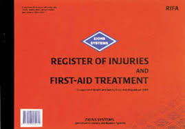 Register Of Injuries & First Aid