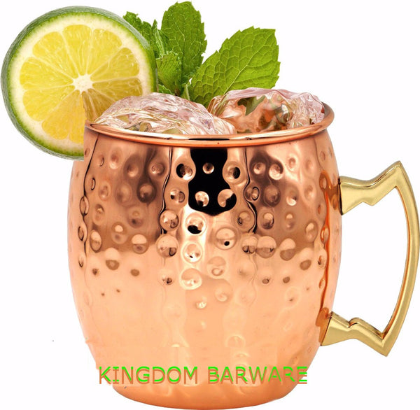 Hammered Copper plated Stainless Steel Moscow Mule Mug Drum-Type Beer Cup Coffe Cup Water Glass Drinkware