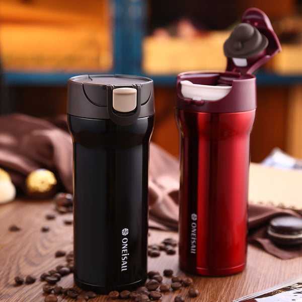 Thermos Keep Mug Coffee Cup Stainless Steel Milk Tea Mug vacuum flask  Anti-Dust Coffee Cups Seal Mass Tea Water Bottle Tazas