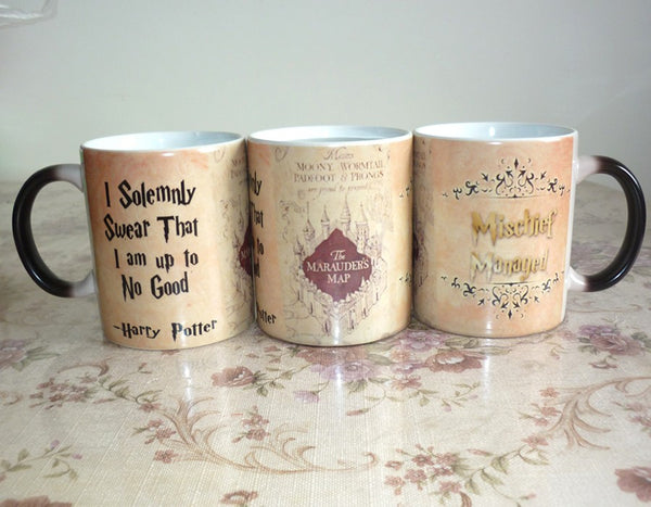 NEW Light Magic Marauders Map mug mischief managed mug I solemnly swear that i am up to no good  coffee cup for friend gift