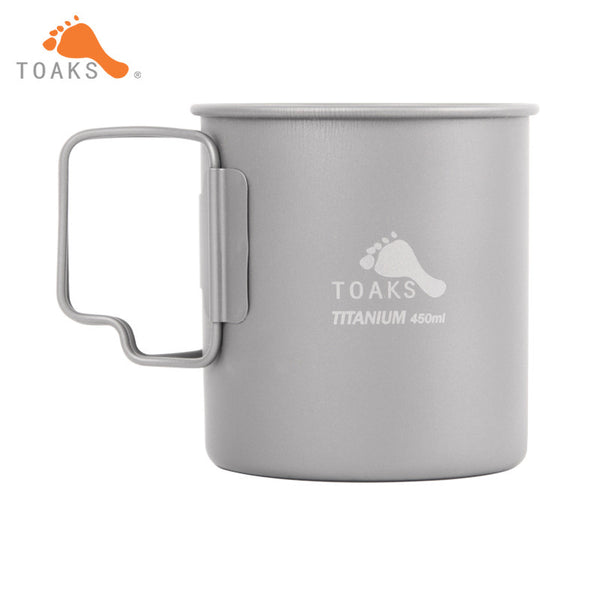 TOAKS 450ML Coffee Mugs Titanium Camping Drinkware Outdoor Lightweight Camping Titanium Mug