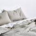 100% Linen Dove Grey sheets