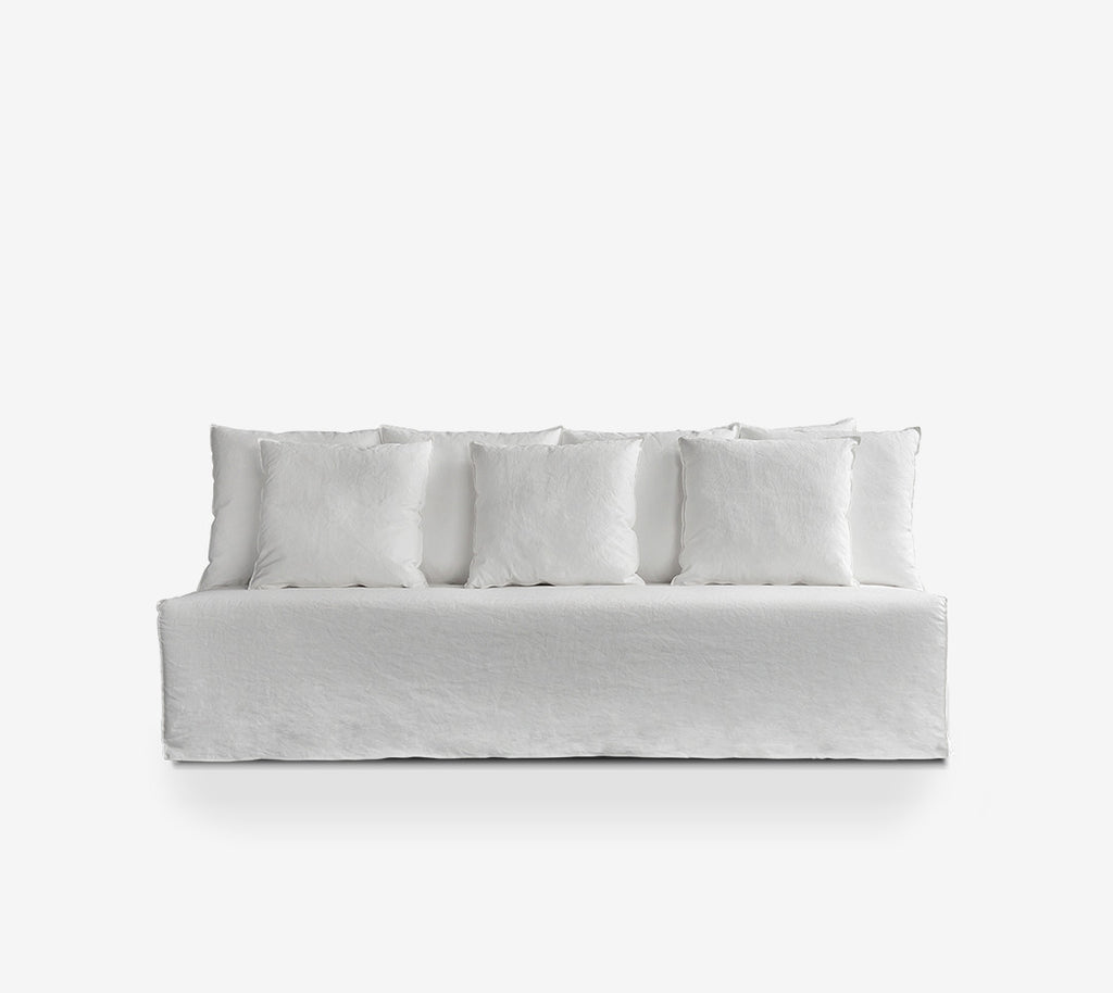 Buy the White Joe Armless Deep Sofa from Smithmade on the Northern Beaches