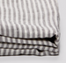 100% Linen Grey/White stripe sheets