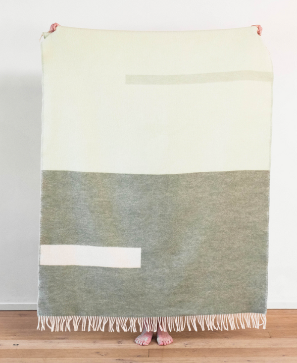 Forestry Wool Abstract Blanket, Meadow