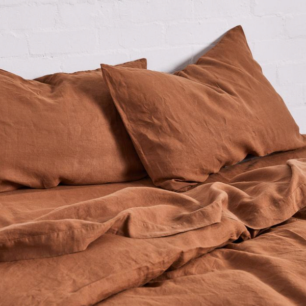100% Linen Tobacco sheets