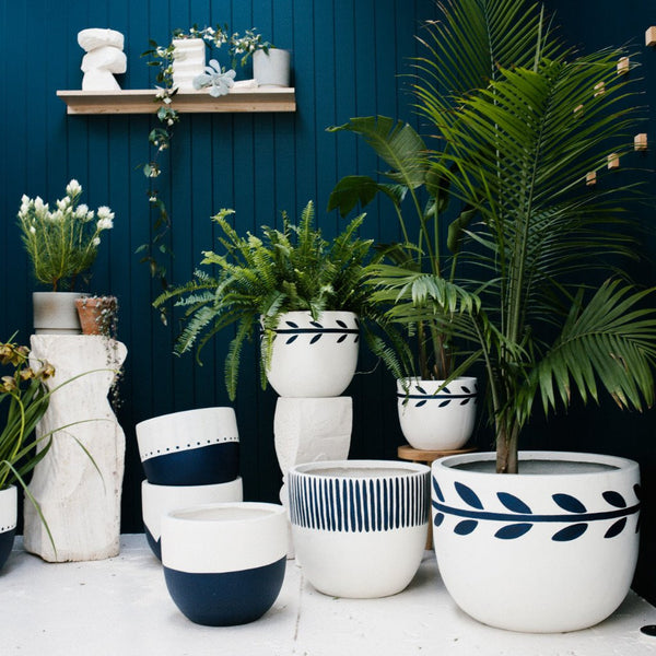 Buy the Joni P & S Pots Indigo Folk from Smithmade on the Northern Beaches