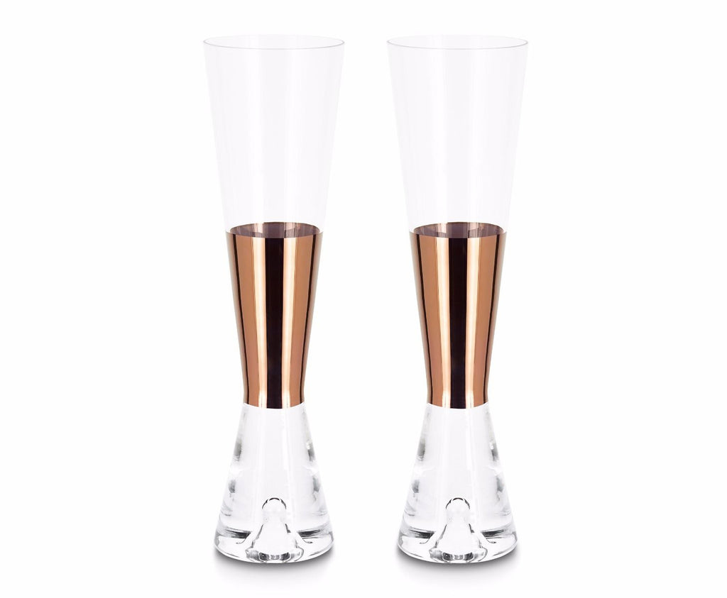 Tom Dixon Tank Champagne Glasses x2