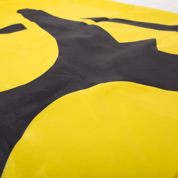 'Logo' Double-Sided Flag – Yellow/Black