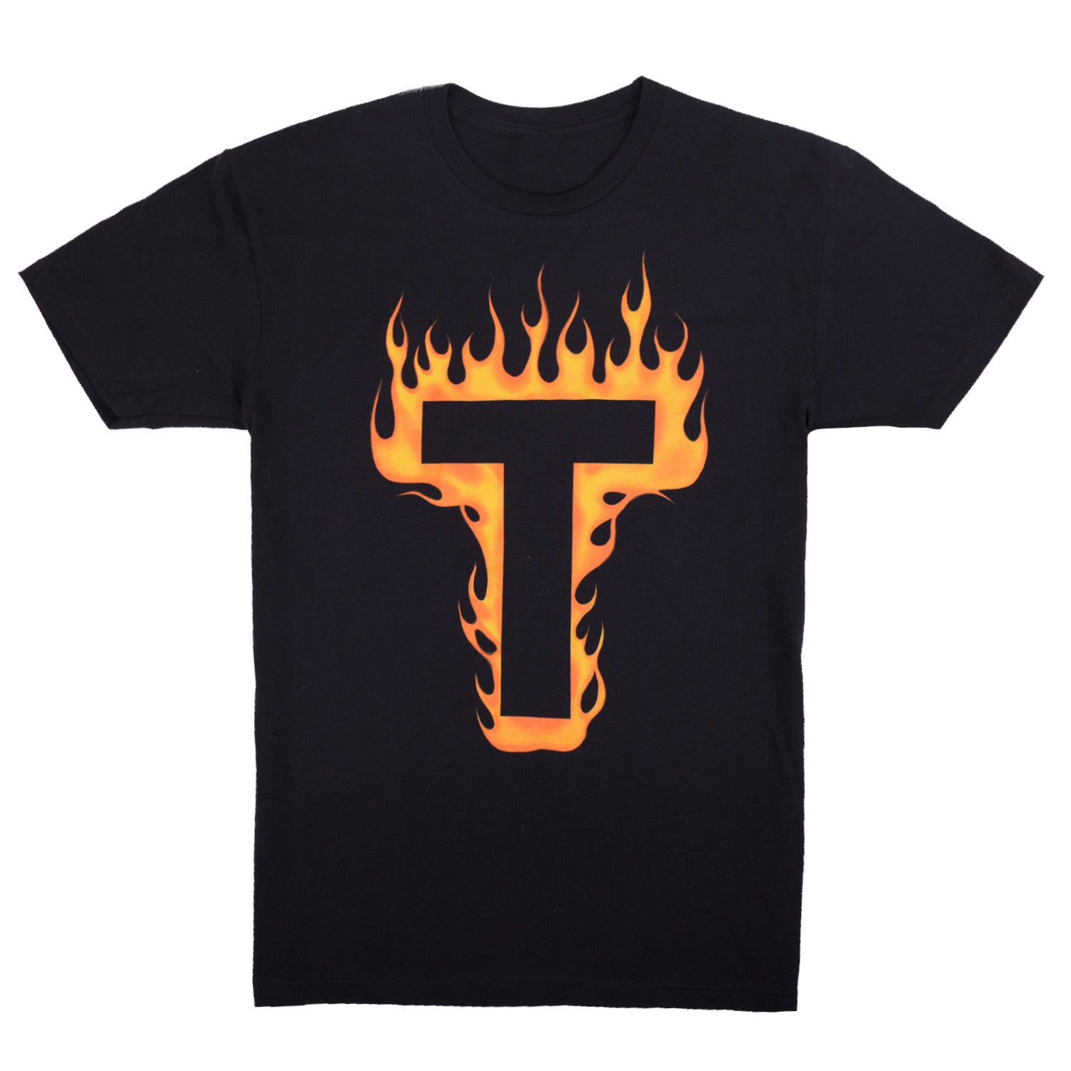 'Flames' T-Shirt - Black