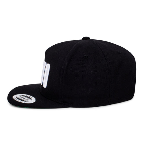 'Boxed' Logo Snapback Hat - White/Black
