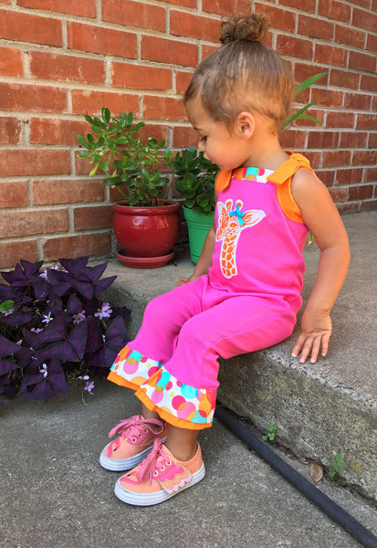 Giraffe Print Outfits And Dresses For Little Girls