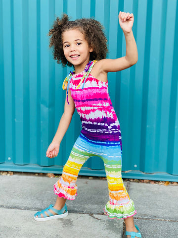 Tie Dye Boutique Girl Romper Outfit