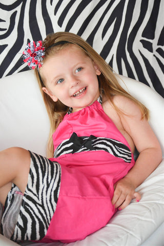 Zebra Print Outfits And Dresses For Little Girls
