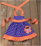 Dora The Explorer Birthday Dress Orange & Purple Dots