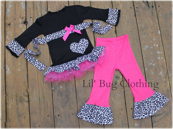 Black White Leopard Print Valentines Day Set