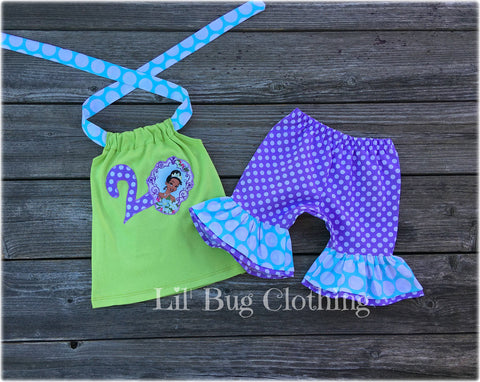Princess Tiana Short Halter Top Outfit