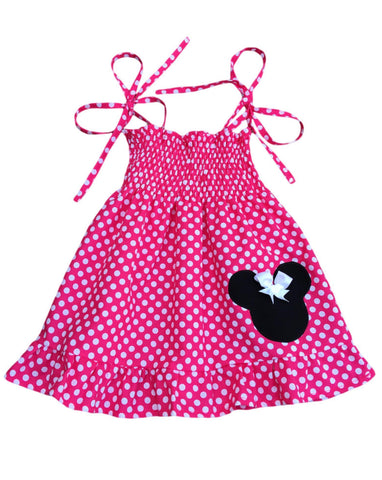 Hot Pink Minnie Mouse Dress