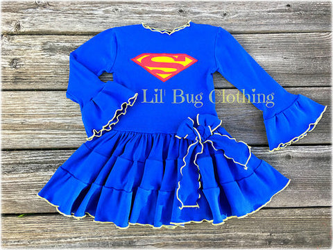 Supergirl Comfy Costume Knit Dress