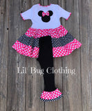 Minnie Mouse Twirl Top & Leggings
