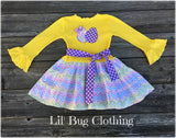 Easter Egg Chevron Twirl Dress