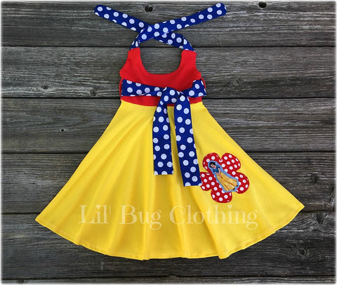 Snow White Comfy Knit Summer Dress