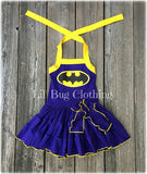 Purple Yellow Batgirl Dress