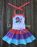 Ariel Mermaid Personalized Birthday Dress