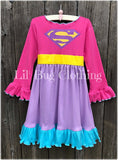 Superhero Supergirl Costume Dress