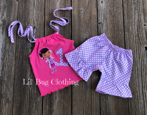 Doc Mctuffins Personalized Birthday Short Top Outfit
