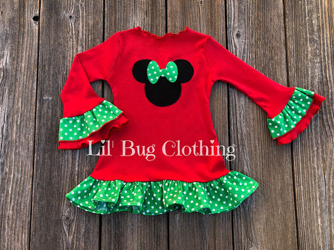 Christmas Minnie Mouse Comfy Knit Dress