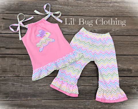 Easter Rabbit Ruffled Top & Capris