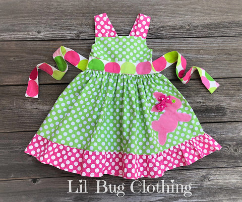 Sorbet Disco Dot Easter Bunny Dress