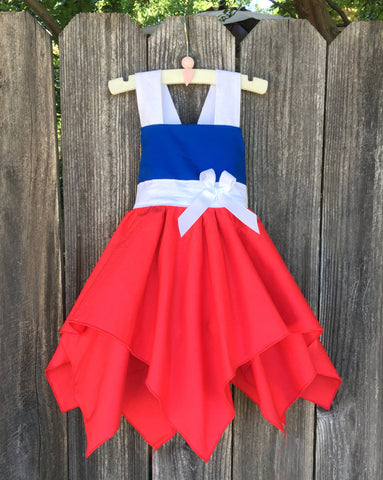 4th Of July Patriotic Little Girl Dress