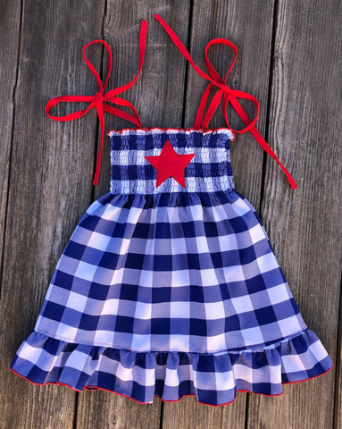 4th Of July Smocked Dress