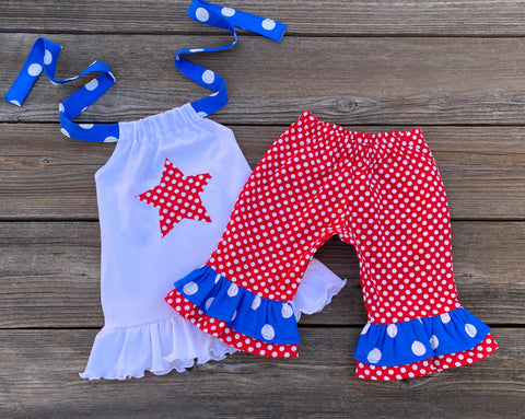Red White Blue 4th July Boutique Girl Outfit