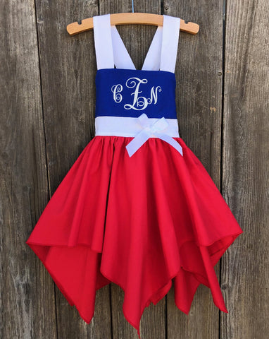 4th Of July Handkerchief Dress