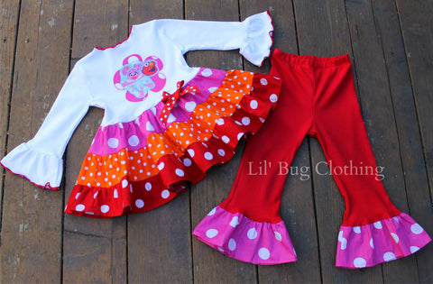 Abby Cadabby Elmo Girl Birthday Outfit
