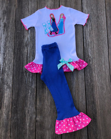 Frozen Anna Elsa Birthday Girl Outfit