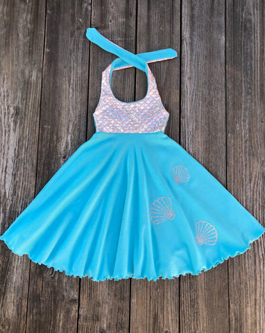 Mermaid Girl Birthday Party Dress